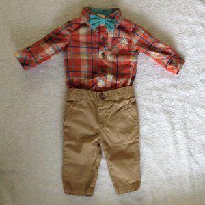 Carter's BodySuit Pants Set Brown 0-3Months